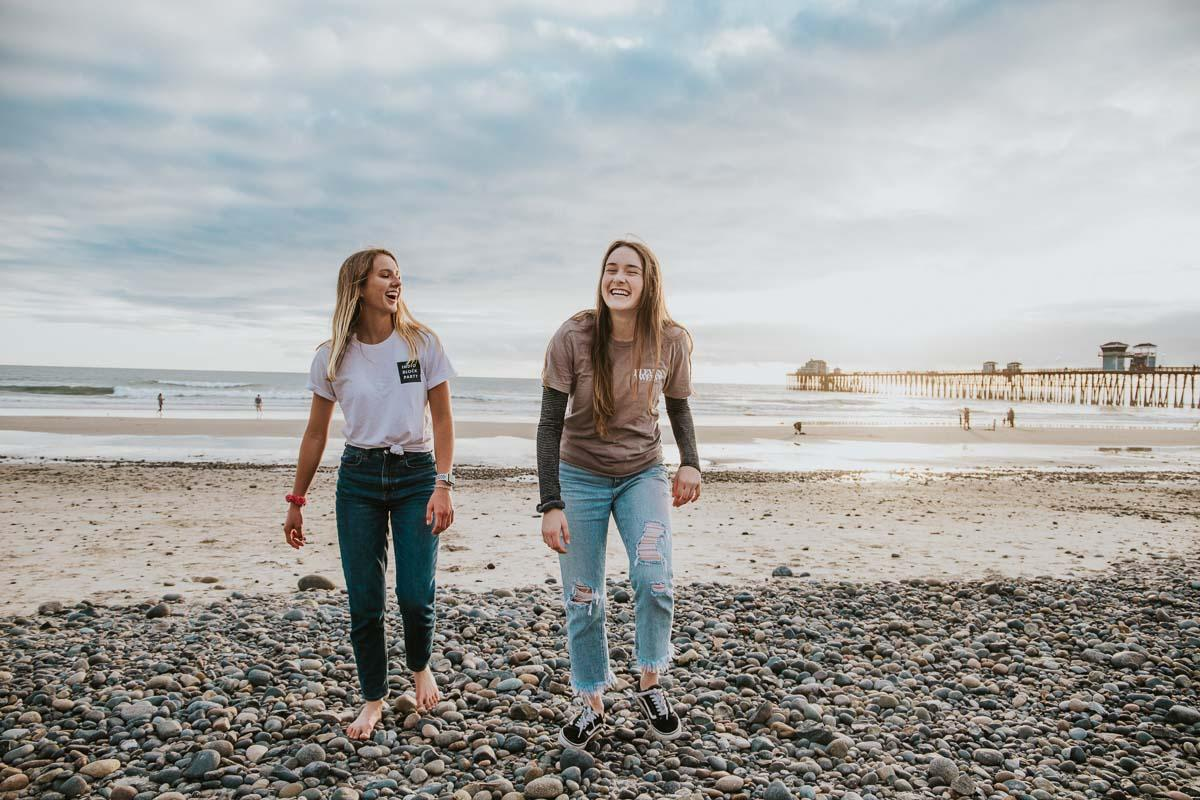 2 girls on the beach funny beach quotes for instagram