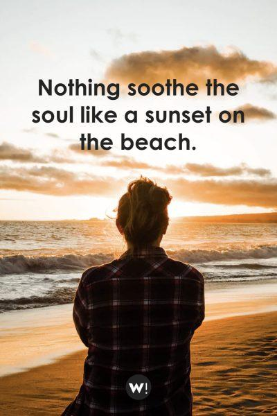 Nothing soothe the soul like a sunset on the beach