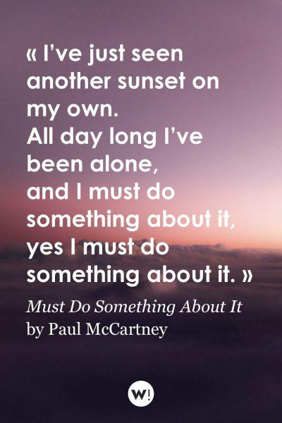 Must Do Something About It by Paul McCartney