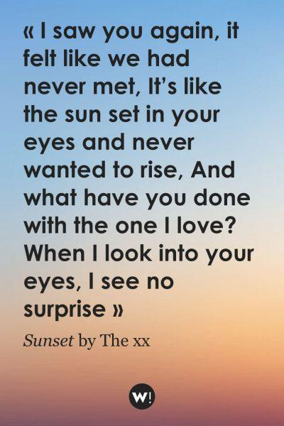 Sunset by The xx