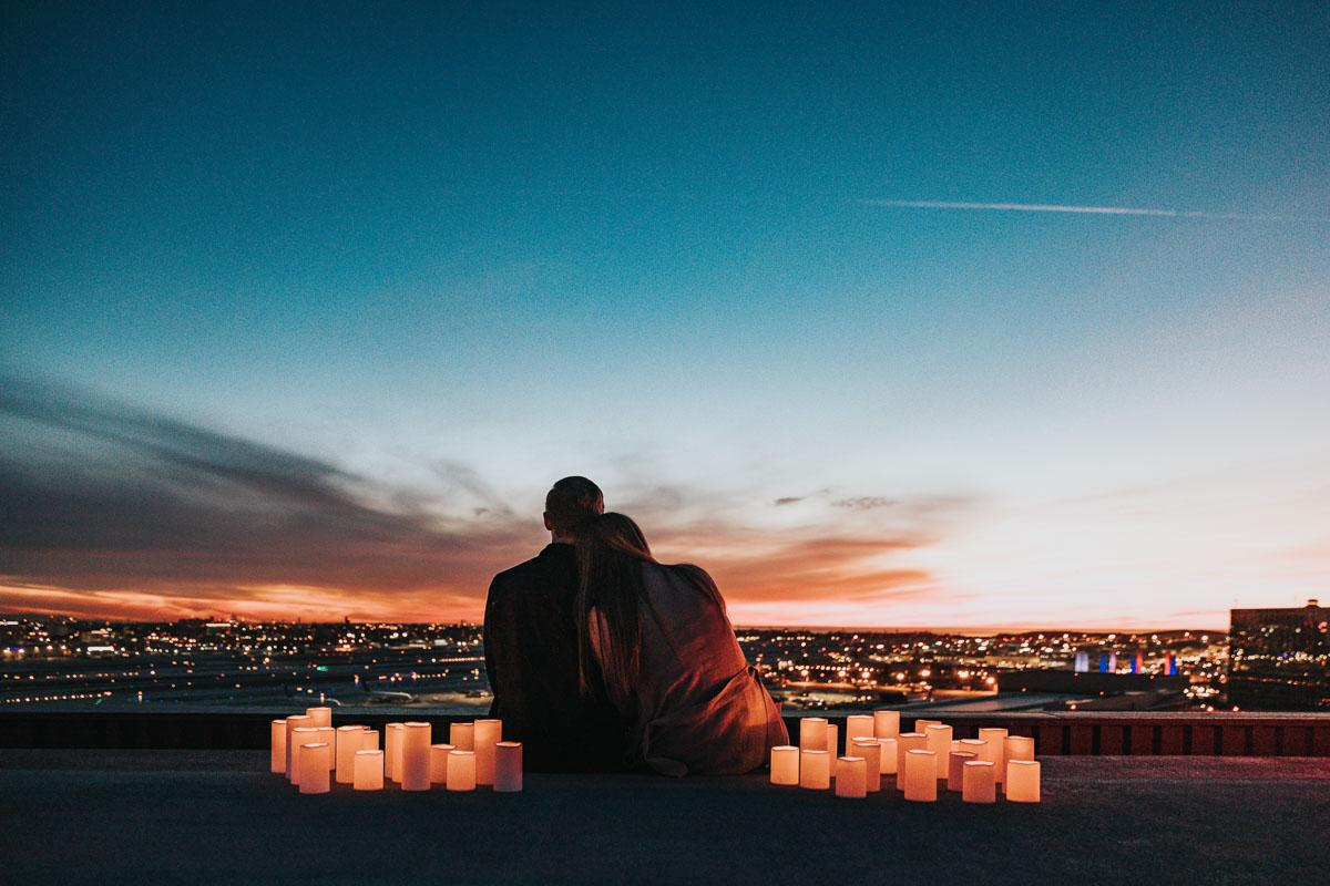couple watching the sunset quotes about love