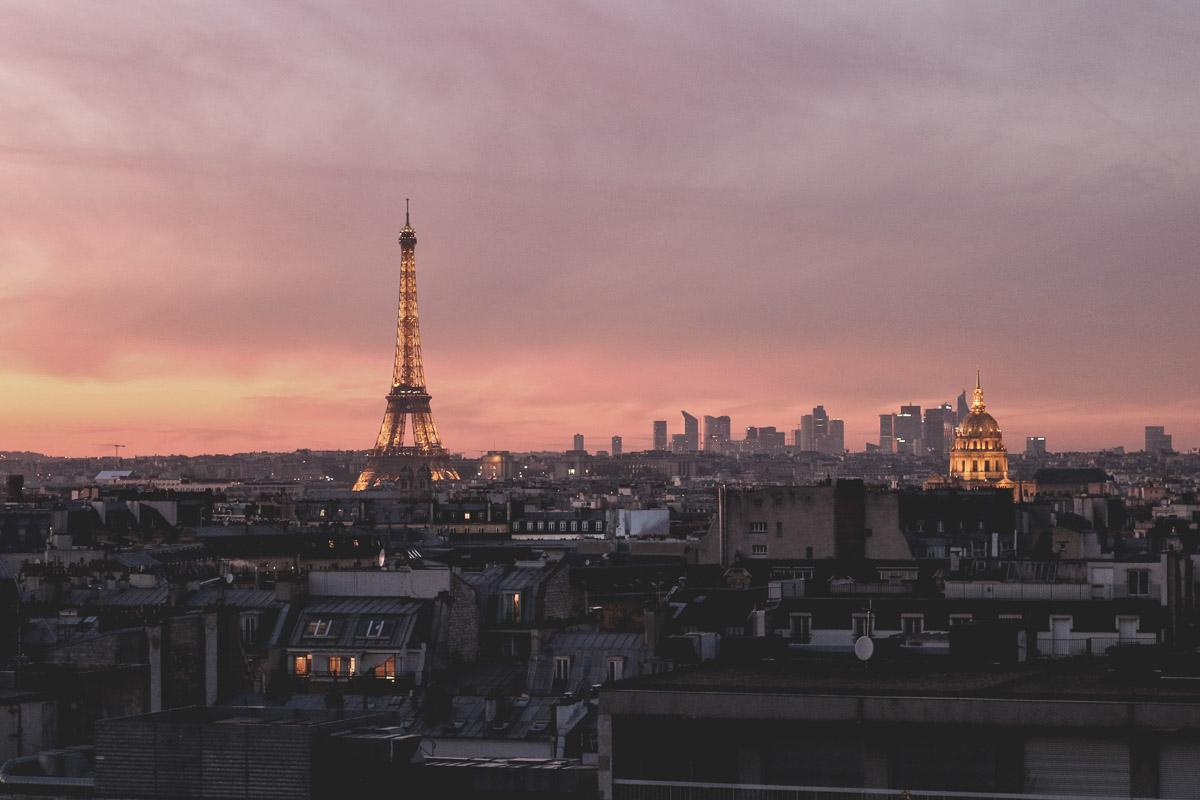 eiffel tower at sunset ig captions
