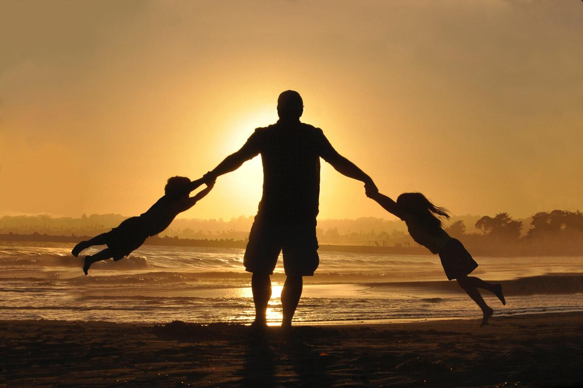 father spinning kids at sunset quotes funny
