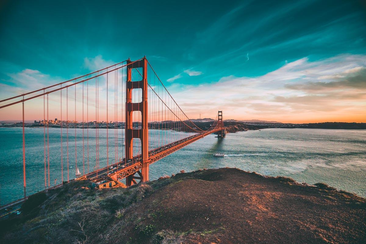 golden gate bridge san francisco famous quotes sunset