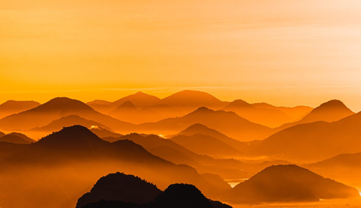 layers of mountains under sunset god quotes