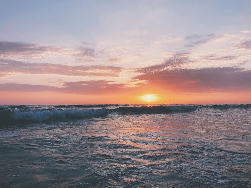 sun over the waves sea sunset quotes