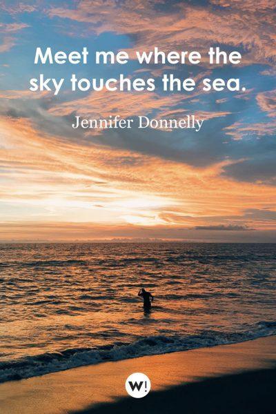Meet me where the sky touches the sea