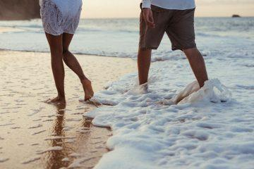 couple walking on the beach walk quotes