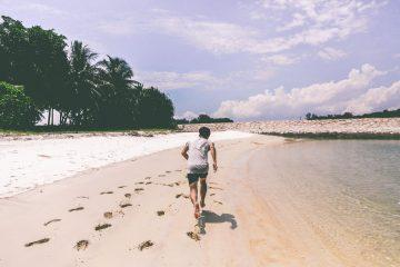 man running on the beach inspirational beach quotes