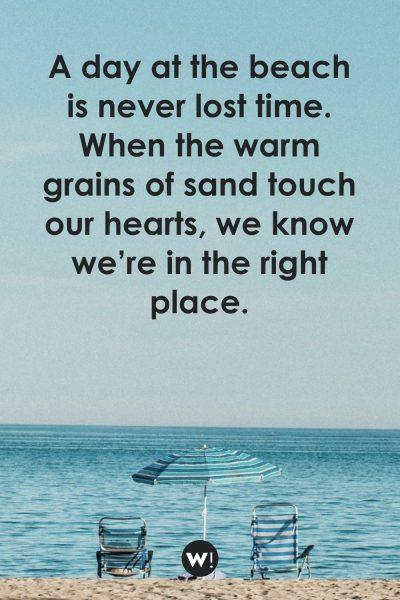 A day at the beach is never lost time