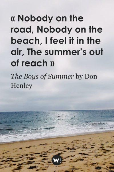 Nobody on the road Nobody on the beach I feel it in the air The summer's out of reach