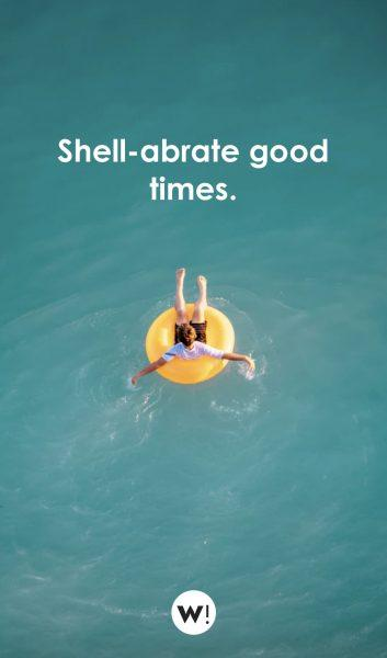 Shell-abrate good times