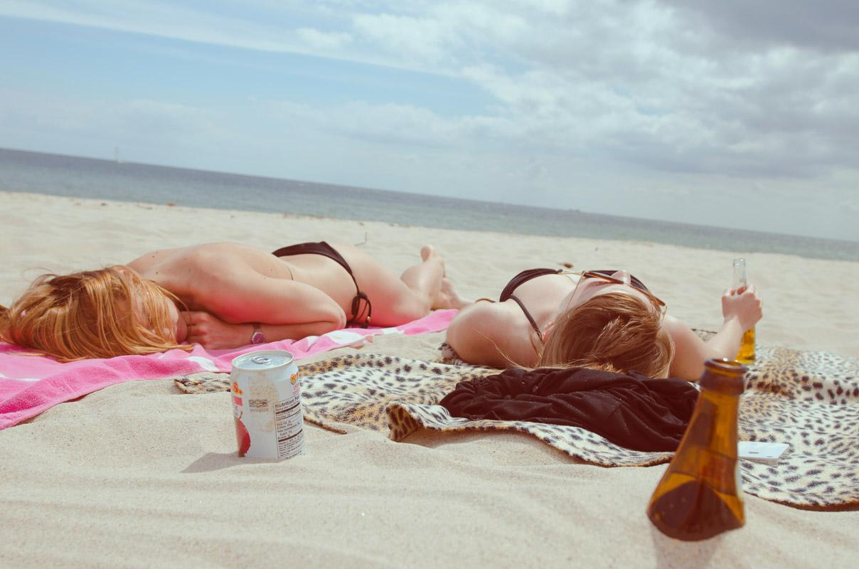 girls laying on the beach relax quotes