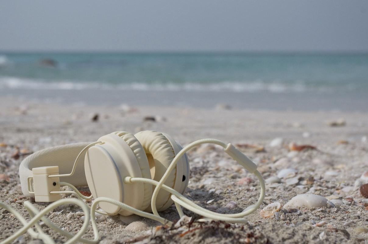 headphones on some beach lyrics