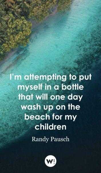 I'm attempting to put myself in a bottle that will one day wash up on the beach for my children