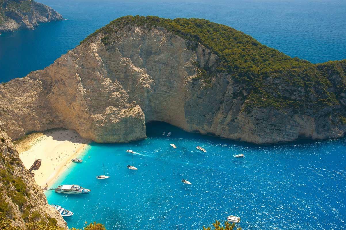 navagio beach greece famous beach quote