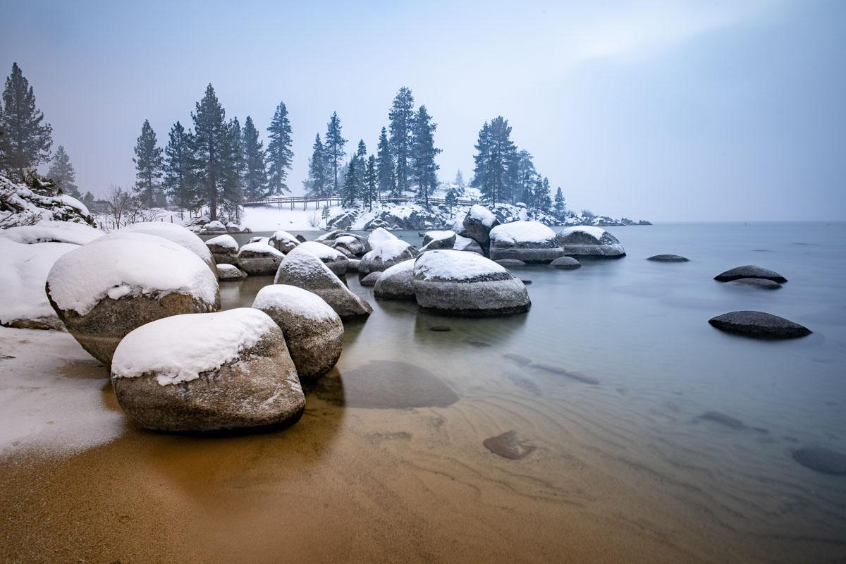 snow on the beach in winter quotes