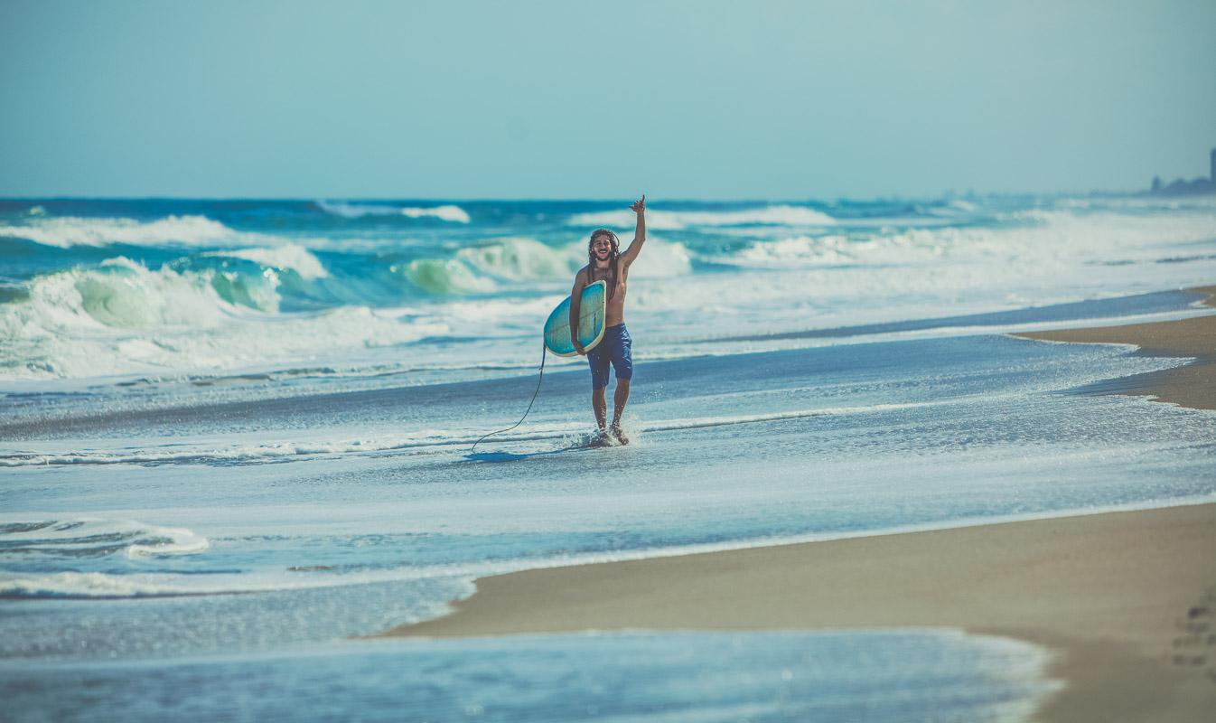 surfer doing a shaka on the beach vibes quotes
